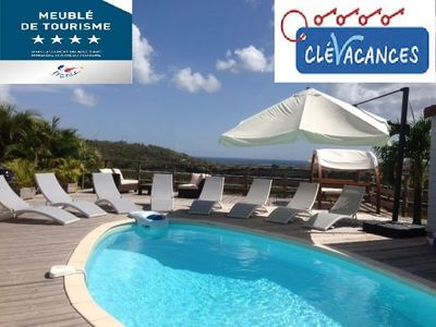 Photo for The elegant Villa Cocoon **** and its bungalow with superb 180 ° sea views