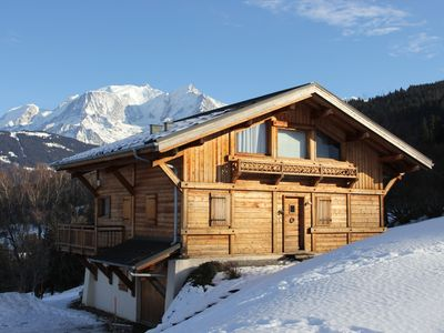 Photo for Quiet Chalet With Beautiful View On Mont-Blanc