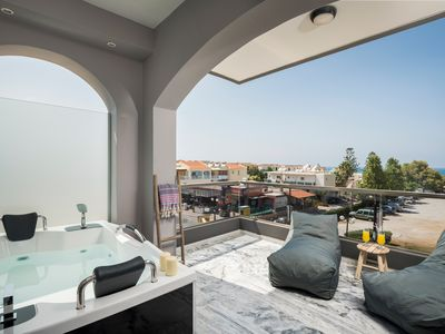 Photo for 203 · Sun Ray Luxury Suite With Jacuzzi & Hammam   100m From Agia Marina Beach