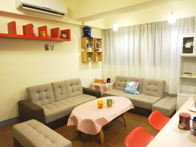 Photo for Cozy Family Apt/ Free breakfast/ 1min from MRT