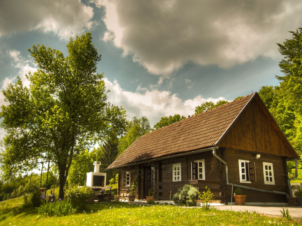 ha . & Hizica small wooden house in the countryside Krapina-Zagorje ...