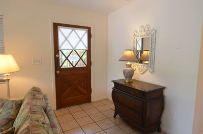 Private Entry with private gated pathway.