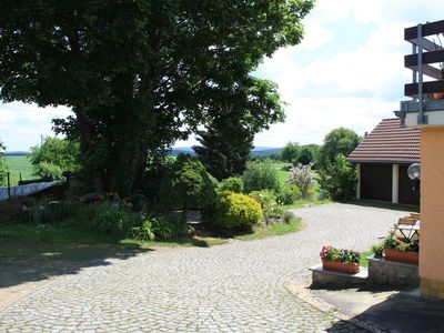 Photo for well-kept, cozy, family-friendly apartment with a view of the Ore Mountains