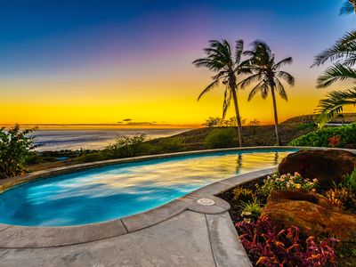 Photo for Luxury Panoramic Ocean View Tropical Hawaii Villa with Mountain & Coastline View