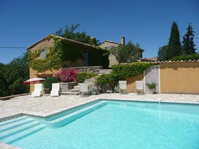 Photo for Provencal farmhouse with pool in 8 ha property for 8 people.