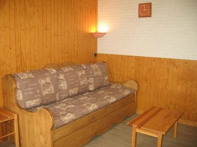 Photo for Surface area : about 23 m². Floor -3. View mountain. Hall. Living room with sofa-bed, pull-out bed