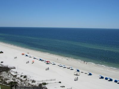 Balcony views from the 12th floor - This 12th floor unit overlooks the Gulf of Mexico and boasts spectacular beach front views!!!