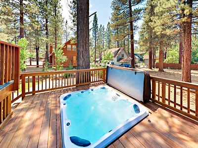 Photo for Striking 3BR Home w/ Huge Kitchen, Fireplaces, Hot Tub & Outdoor Fire  Pit