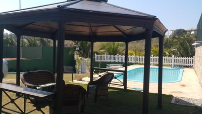 Photo for Excel. house, shallow beach, pool and 2 clay tennis courts, sleeps 10 people