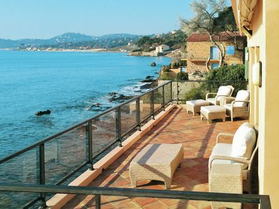 Photo for Villa right by the sea, with large enclosed garden at Sainte-Maxime