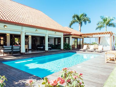 Photo for Gorgeous Villa with Large Cathedral Ceilings, Swimming Pool, Jacuzzi, Gazebo, BBQ Area, Free Wifi
