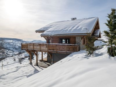 Photo for Le Paradis Blanc: Luxury chalet with stunning views