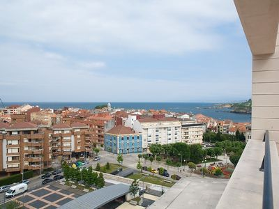 Photo for 100 mt penthouse apartment with a terrace overlooking the sea in the center of LUANCO
