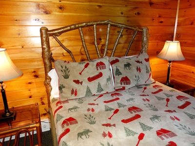 LUXURY DENALI BEDDING. PROFESSIONALLY CLEANED, SANITIZED, IRONED SHEETS, LOG BED