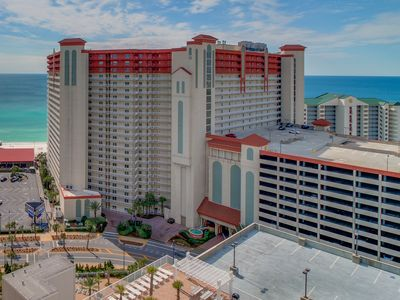 Photo for NEW LISTING! Gulf front condo w/shared pool and hot tub, steps to the beach!