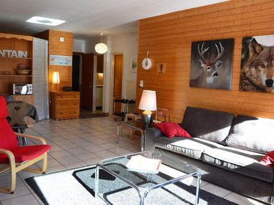 Photo for Outside : flat for 5-6 people on the ground floor, balcony -Inside : 60 sqm, large living with a sep
