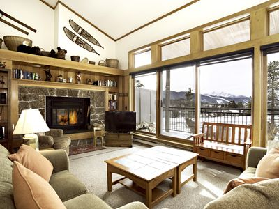 Photo for CONDO WITH SPECTACULAR GORE MOUNTAIN RANGE VIEWS, KEY LOCATION NEAR SHUTTLE STOP