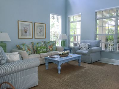 Living Room is light and bright throughout the day