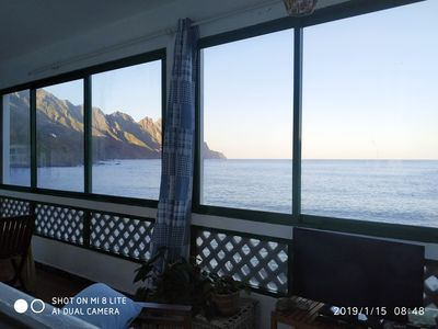 Photo for Apartment on the 1st line of the beach panoramic views of the sea & mountains