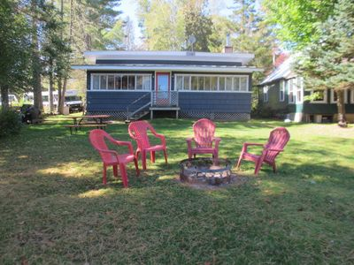 Photo for Small older cottage close to the Village of Oquossoc and right on Rangeley Lake.