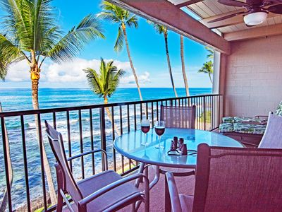 Photo for Absolute Oceanfront Condo 1 bdr ~2bath ~Pool ~Lrg Private Lanai ~A/C ~WiFi
