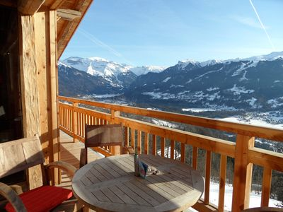 Photo for Exceptional, Luxury Chalet with amazing view in Grand Massif ski resort