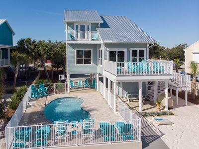 Photo for Luxurious Gulf House - BOTH Beach & Bay access. Private Beach & Private Pool!