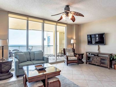 Photo for Fantastic Beach Views ~ Large Private Balcony ~ Pools, Tennis, Fitness & More!