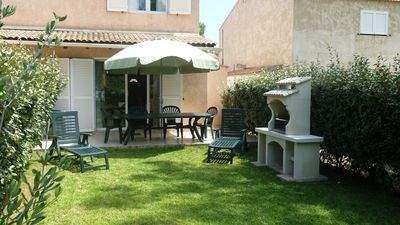 Photo for Mini villa T3 any comfort, garden, 150 m from the beach: 6 people