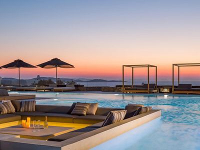 Photo for Villa Artemida, in Aleomandra, Mykonos, with swimming pool, sea view, 8 sleeps