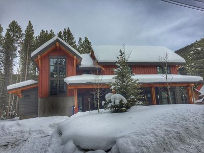 Photo for Mountain Modern Home in Breckenridge, wooded lot, hot tub on deck, tranquil
