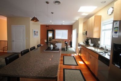 Eat In Kitchen with Huge Granite Bar for 4 and Dining Room for 8