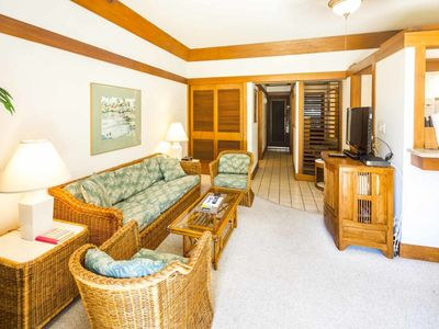 Photo for Homey Poipu Condo w/Island Decor, WiFi, Kitchen, Lanai to Lawn–Kiahuna Plantation #2423