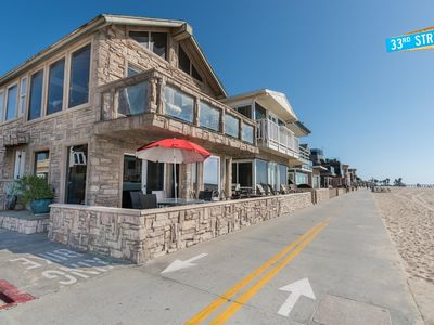 Photo for New Listing! Oceanfront Downstairs Family Vacation Home