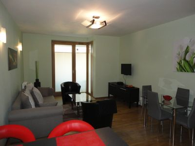 Photo for Angel Plaza Apt. near Old Town with Balcony, Parking Space, Air, 24 hr Concierge