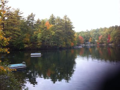 Fall view of lake from back porch