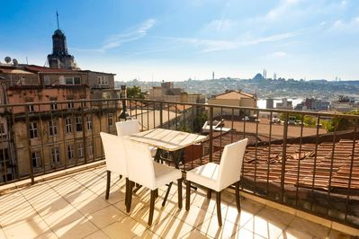 Spacious shared terrace on the last floor overlooking a spectacular view of the