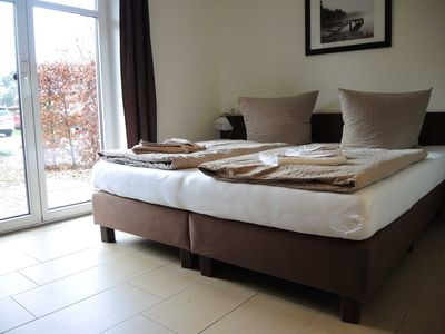 Photo for Double room 16 with terrace Haus Max - Usedom Bike Hotel & Suites *** 80 m to the Baltic Sea beach