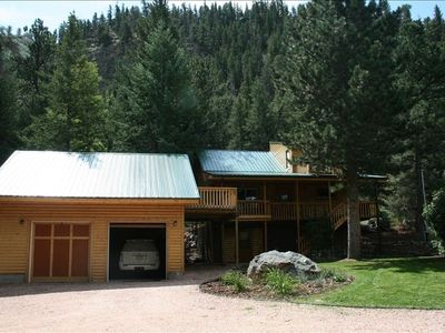 Photo for Beautiful, Updated Log Cabin on the Poudre River