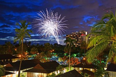 Friday Night Fireworks from your own Lanai!