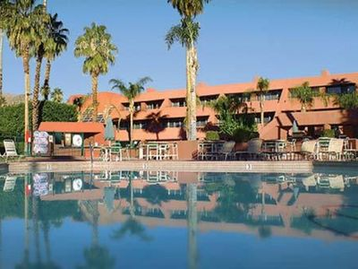 Photo for Palm Springs ~1BD Condo~ Marquis Villas Resort ~ BEAUTIFUL VIEWS/HEATED POOL