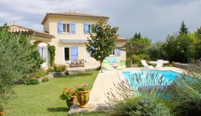 Photo for Holiday villa with private pool in the Cévennes, South of France