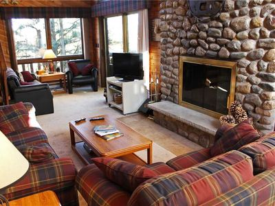 Photo for A Spacious Trailside Vacation Home with Large Stone Fireplace, Indoor Hot Tub And Allows Dogs