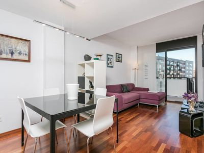 Photo for Big terrace, 2bed, in trendy Poblenou