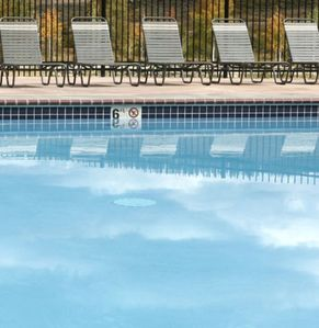 Swim from indoor to outdoor pool, 365 days  a year.