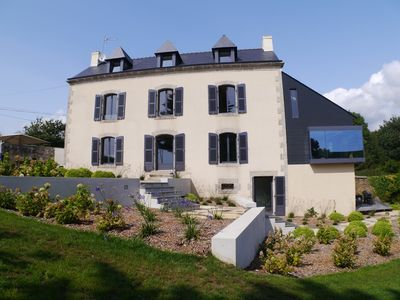 Photo for Beautifully restored manor with sea views, fireplace, sauna and free Wi-Fi