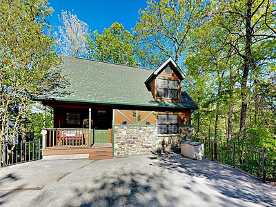 Photo for New Listing! Charming Mountain Bungalow w/ Deck, Fireplace & Private Hot Tub