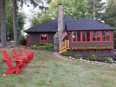 Photo for Snowshoe Cottage & Boathouse right on Mirror Lake