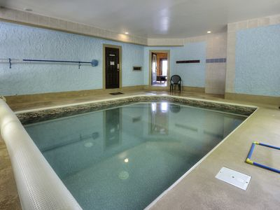 Photo for Secluded 6 Bedroom Private Indoor Pool Cabin with Hot Tub and Mountain Views