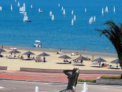 Photo for Four-room apartment with sea view 30mt. from the free beach of Tortoreto